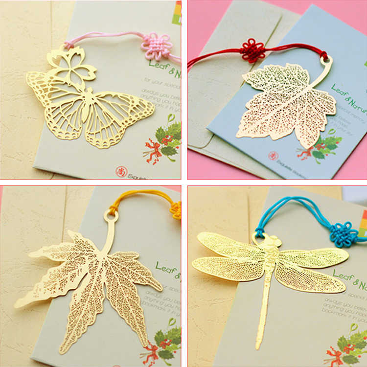 Metal Bookmark Chinese Style Color Brass Tassel Retro Book