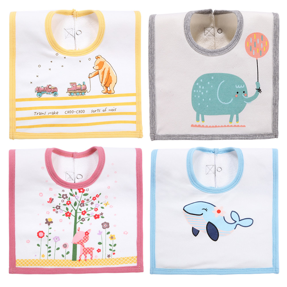 Baby bibs nové čtvercové sliny bavlna bavlna ručník utěrka - Oblečení pro miminka