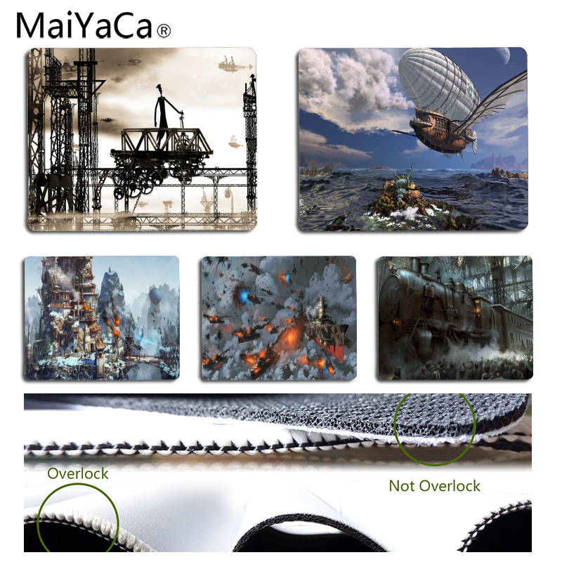 MaiYaCa Steampunk Computer Gaming Mousemats Size for 25x29CM Speed Version Gaming Mousepads