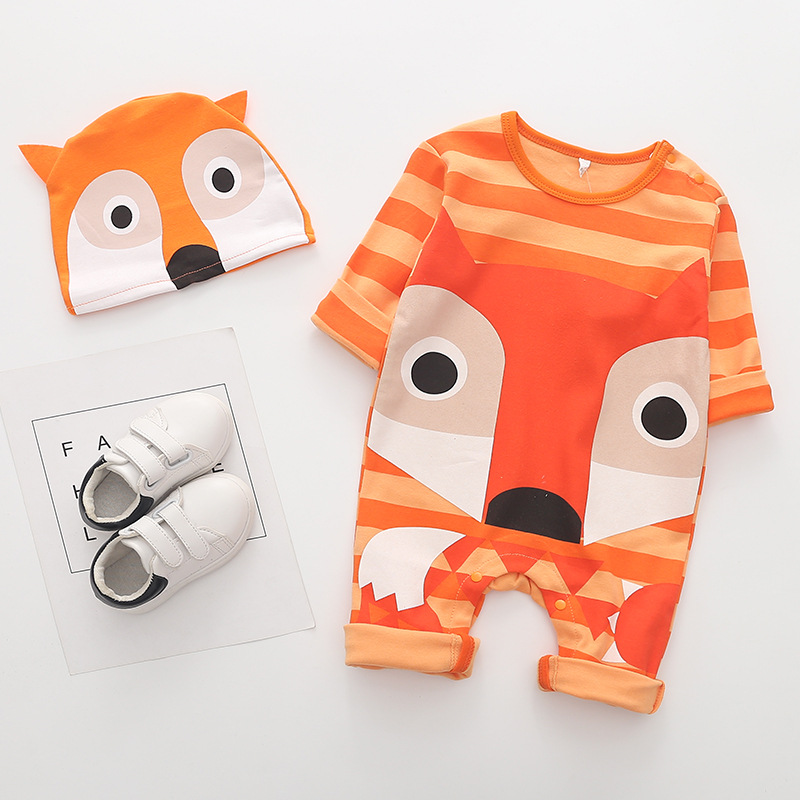 HTB1.5oLKb1YBuNjSszhq6AUsFXaW Newborn baby cotton rompers lovely Rabbit ears baby boy girls short sleeve baby costume Jumpsuits Roupas Bebes Infant Clothes