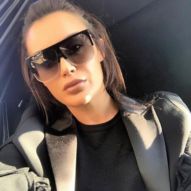 b2a05b7859cf JUSTRUE Vintage Oversized Sunglasses Women Fashion Gradient lenses Brand  Design Celebrities Female Shades Sunglasses