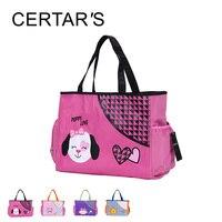 CERTAR S Mummy Diaper Bag Backpack Multifunction Kawaii Animal Dog Lion Owl Polyester Hobos Messenger Animal