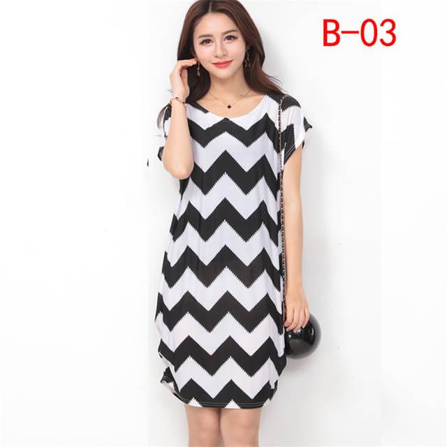 placeholder Arthsdite Fashion Ice Silk Dress Summer Big Size Casual Loose  Floral Dot Print Beach Dresses Plus 6a51dc70c547