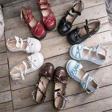 Bowknot lolita sapatos jk sapatos uniformes couro do plutônio lolita sapatos a947