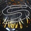 18 K oro blanco collar de cadena '' 18 '' sobre 45 CM para mujeres y hombres