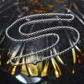 18K White Gold Chain Necklace 18'' About 45CM For Women And Men