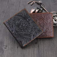 Hot Selling Wallet Classic Leather Coin Purses Bag Vintage Printing New Design Dollar Price Top Slim Men Short Wallet Wholesale