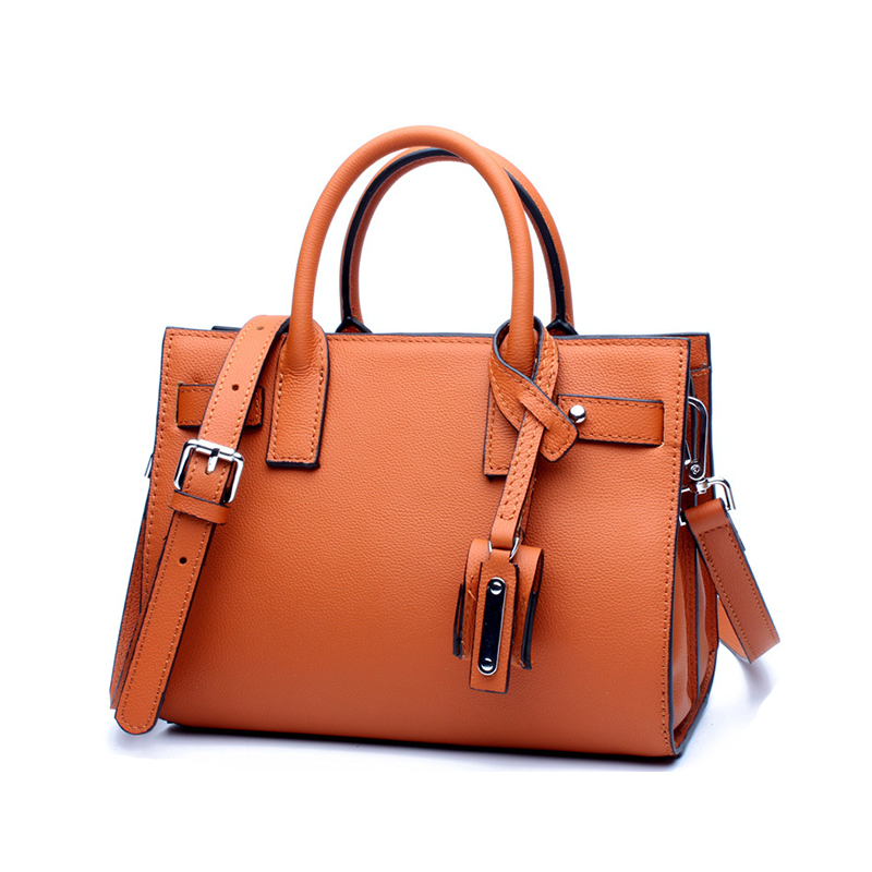 New Brand Genuine Leather Women Bag Luxury Handbag For Women Business Designer Bag Leather Shoulder Messenger Bag Casual Tote 2017 luxury brand women handbag oil wax leather vintage casual tote large capacity shoulder bag big ladies messenger bag bolsa