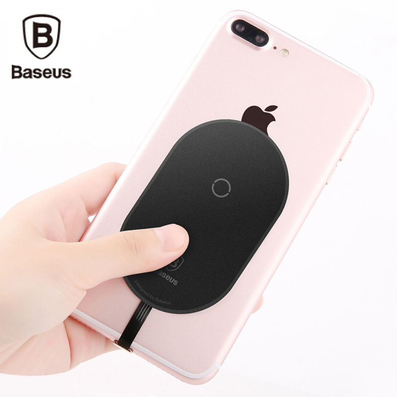 baseus qi wireless charger receiver for iphone 7 6 6s plus. Black Bedroom Furniture Sets. Home Design Ideas
