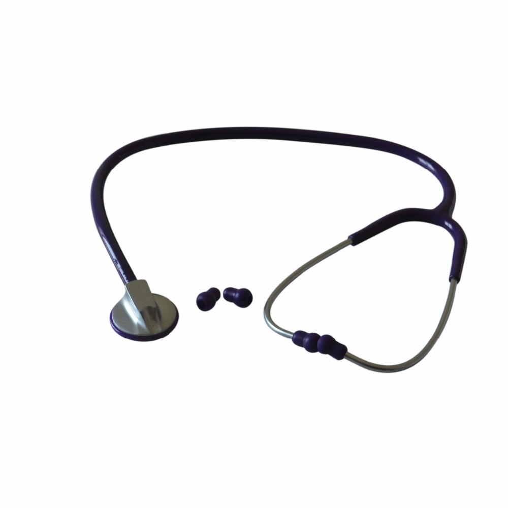 Pro Single Head Medical Stethoscope EMT Doctor Nurse Vet Student Health Blood Stethoscope Purple-plated forum novelties hospital nurse stethoscope