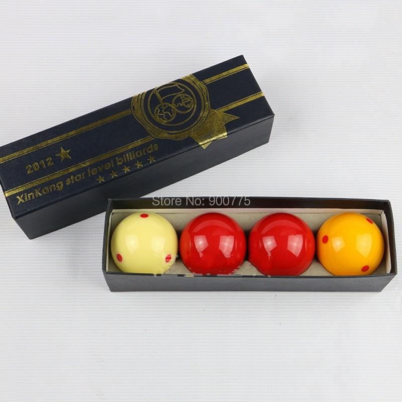 Korea Carom bilyard topu 4pcs / set 65.5 mm Supplies Bilyard Oyunları Hovuz topları 4 top dəsti qatran topları