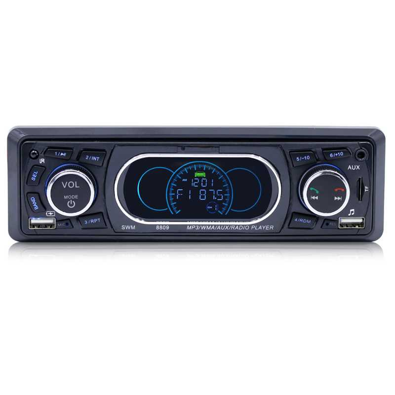 Bluetooth Car Player 8809 Stereo Audio Remote Control MP3 Player 1 Din AUX/TF/USB FM Bluetooth Car Radio Vehicle Car MP3 Player