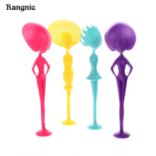 Creative plastic  soup ladle Long Handle miss ladle soup pasta spoon  Dinnerware Cooking Tools Kitchen Accessorie with stand P25