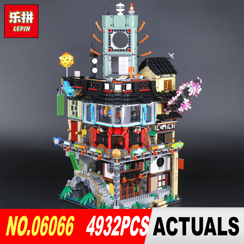 Stocked Lepin 06066 4932pcs Creative City Model Educational Building Blocks Bricks Kids Toys as Christmas Gift Compatible 70620 lepin 42010 590pcs creative series brick box legoingly sets building nano blocks diy bricks educational toys for kids gift