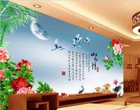 3d room wallpaper custom mural non-woven picture wall sticker 3 d Peony under the crane painting photo 3d wall murals wallpaper