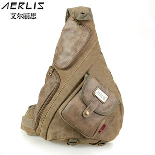 2018 FREE SHIPPING Aerlis large canvas chest bag vintage messenger bags male  casual casual travel messenger 1fd3cd9e49