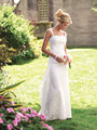 2016 Sheath Spaghetti Straps Lace Floor Length Wedding Dresses New vestidos de noiva