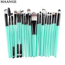 20 pcs pincéis de Maquiagem profissional define sobrancelha Blush foundation escova de cabelo caneta Cosméticos escova oval make up brushes Ferramenta(China (Mainland))