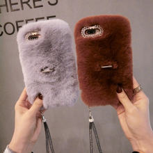 Luxury Handmade Rabbit Full Furry Animal Hair Phone Case for Oneplus7 6 1+7 pro Oneplus 5T Winter Soft Warm Real Rabbit Fur(China)