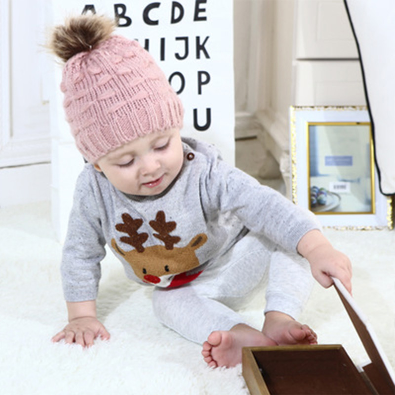 9ae31d3b03d Toddler Kids Girl Beanie Hat Baby Infant Winter Warm Crochet Knit Hat  Beanies For Boys Baby Caps Hats For Children Girls Gift-in Hats   Caps from  Mother ...