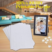 10xA4 DIY Blank Dye Sublimation Printable Jigsaw Puzzle For Heat Press Machine Transfer Sublimate Create for Promotional Product