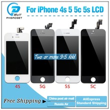 AAA LCD Display + Touch Screen Digitizer for iPhone 5S 5C 5 4S Free Shipping