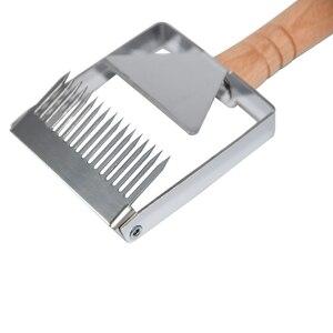 Image 5 - Pszczelarstwo sprzęt pszczeli o strukturze plastra miodu skrobak drewniany uchwyt narzędzie Uncapping widelec narzędzia pszczelarskie