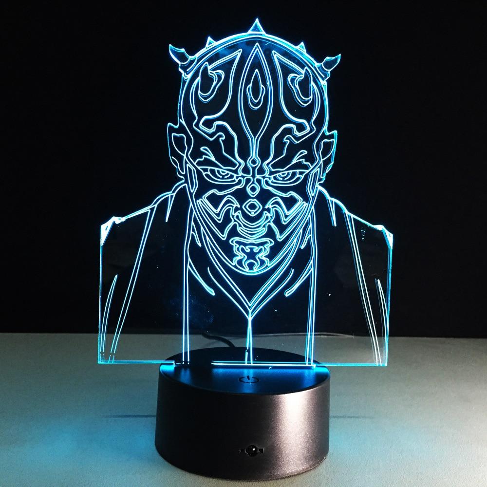 Star Wars Darth Maul 3d Led Light Visual Night Lights Star