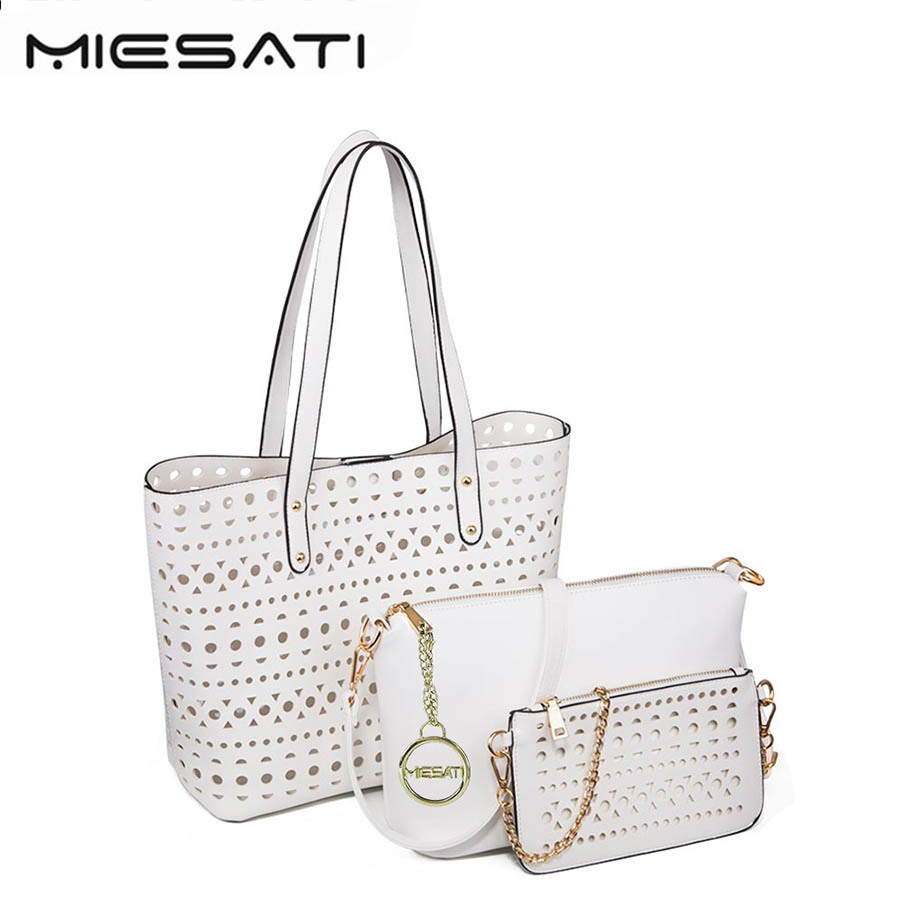 MIESATI Luxury 3 Sets Handbag Women Composite Bag Female Large Capacity Tote Bag Fashion Shoulder Crossbody Bag Small Purse miesati luxury 3 sets handbag women composite bag female large capacity tote bag fashion shoulder crossbody bag small purse