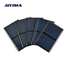 AIYIMA 5PCS 2V 80x50mm Solar Cells For Solar Panels Polycrystalline sun power Cells Sun power Module DIY Battery Charger