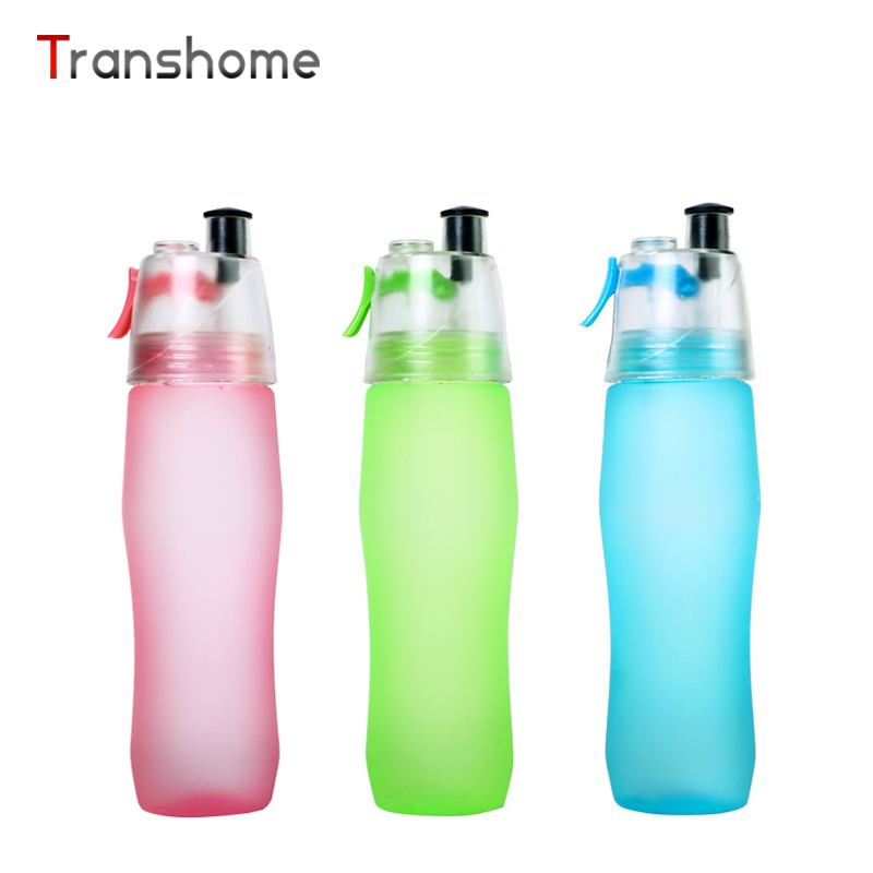 Transhome Spray <font><b>Water</b></font> Bottle 700ml Creative <font><b>Portable</b></font> <font><b>Plastic</b></font> Unbreakable <font><b>Leak-</b></font> <font><b>proof</b></font> Waterfles For Outdoor Sport Copo Com Canudo