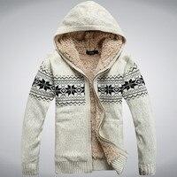 ฤดูหนาวข้นขนแกะผ้าขนสัตว์ผู้ชายเสื้อกันหนาวคลุมด้วยผ้าฤดูหนาวเสื้อคลุมคาร์ดิแกนสบายๆแ...