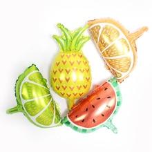 5pcs Mini fruit Balloon  Watermelon Lemon Orange Foil Pineapple Globos Children Gifts Birthday Party Decor Kids balls