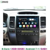 Lenvio 9IPS RAM 2GB+32GB Android 7.1 CAR GPS Navigation For Toyota Prado 120 Land Cruiser 120 2002 2003 2010 car dvd player DAB