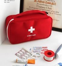 Multifunctional Emergency Bag Outdoor Portable Handheld Medical Bag First Aid kit Pattern Medicine Storage Bins WL