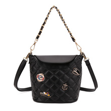 купить Women Crossbody Me's'seng'er Purse Small Pu Leather Shoulder Bag Ladies Cute Metal Chain Satchel Bag по цене 846.05 рублей