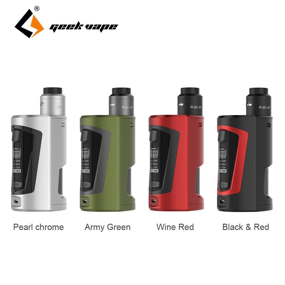 Original GeekVape GBOX Squonker 200W TC Kit with Radar RDA Tank 8ml Huge Squonk Bottle Long