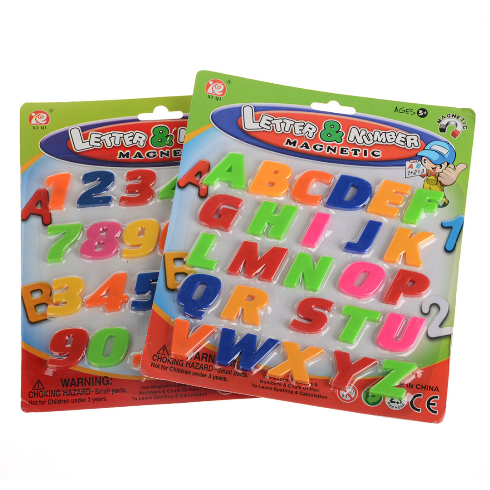 sets kids educational math toy letters alphabet and number learning fridge magnet 2626 pcs