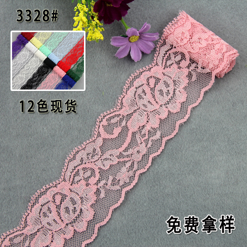 direct 5cm lace elastic lace DIY toys, jewelry, accessories, underwear, fabric, garment accessories, spot 12 colors
