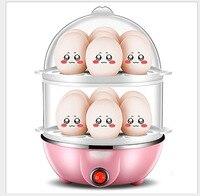 汽船ミニダブルステンレス鋼 14 卵ボイラー消灯家庭用朝食機 350 ワットホット食事/ミルク -