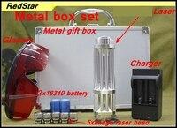 [RedStar] RedStar YX 017 лазерная указка, лазерная ручка, спичка, припой, металлическая коробка, набор включает 2x16340 батареи и зарядное устройство, 5 кол