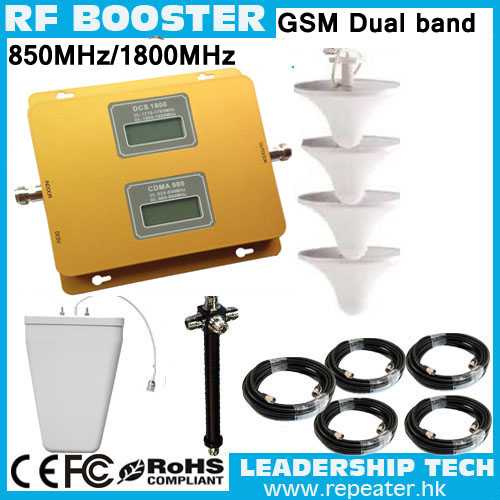 Work 1200m2 DCS/CDMA GSM1800mhz/CDMA850mhz Dual Band Mobile Phones Repeaters 3G CDMA850mhz Dual Band Cell Phones Signal Booster