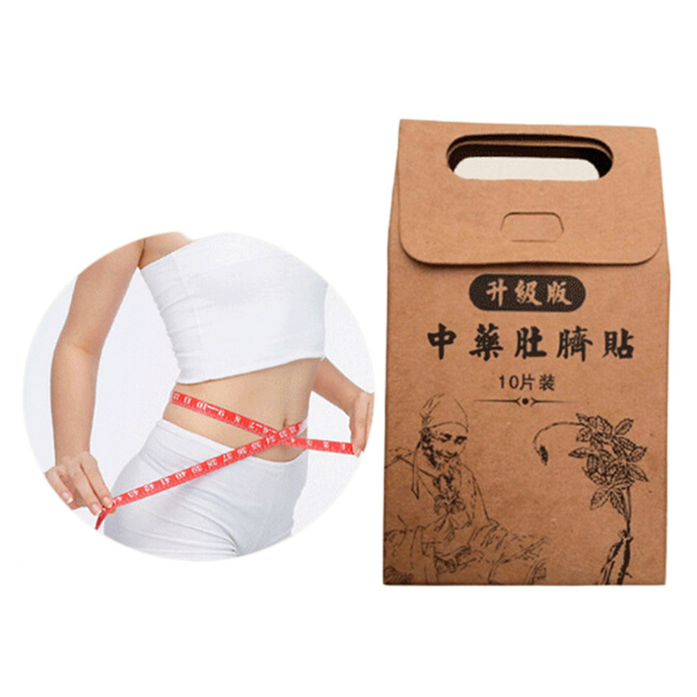 Galleria fotografica 10pcs Potent Slimming Paste Stickers Skinny Waist Belly Fat Burning Patch Chinese Medicine Slimming Products