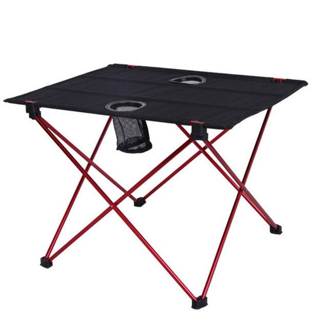 נייד קל משקל בחוץ שולחן עבור קמפינג שולחן אלומיניום סגסוגת פיקניק מנגל מתקפל שולחן חיצוני פרק חוף נסיעות שולחן