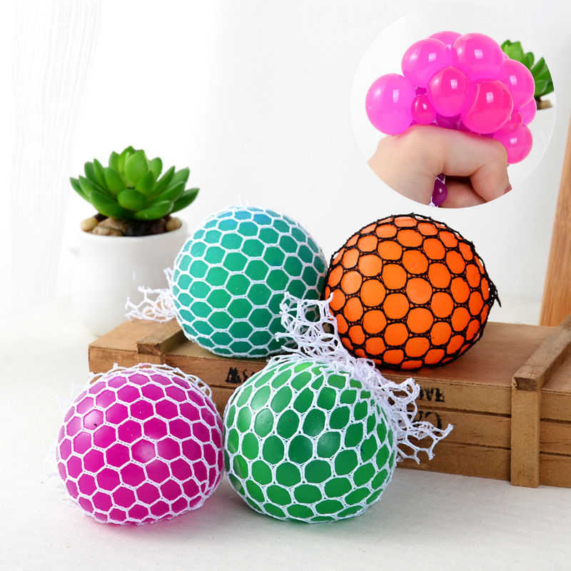 Squishy Ball In Mesh : Outdoor Fun & Sports Toy Balls Squishy Mesh stress ball Fidget Stress Toys Finger antistress ...
