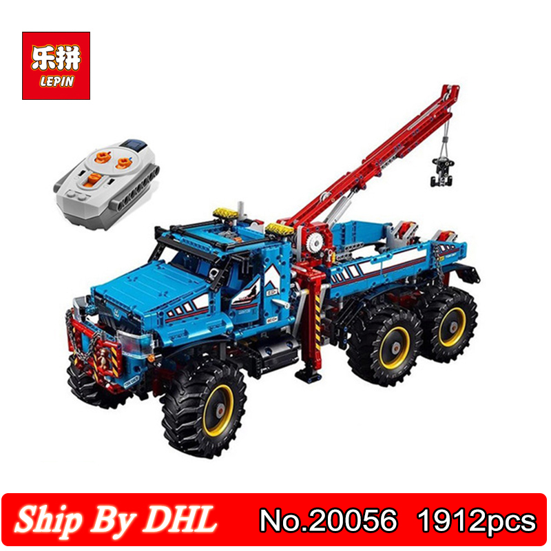 LEPIN 20056 lepin Technic Series The Ultimate All Terrain 6X6 Remote Control Truck Building Block 1912pcs Bricks Kits Toys lepin 20076 technic series the mack big