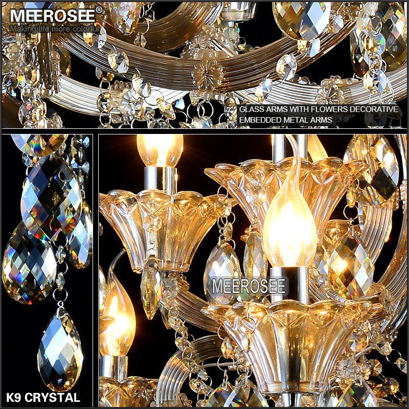Maria Theresa Cristal Candelabru Lumină de coniac LED Lustru de - Iluminatul interior - Fotografie 6