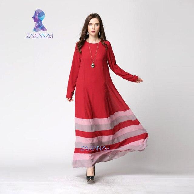 20018 Hot Las Turkish Abaya Dresses Rainbow Chiffon Moroccan Style Long Sleeve Women Ic Clothing