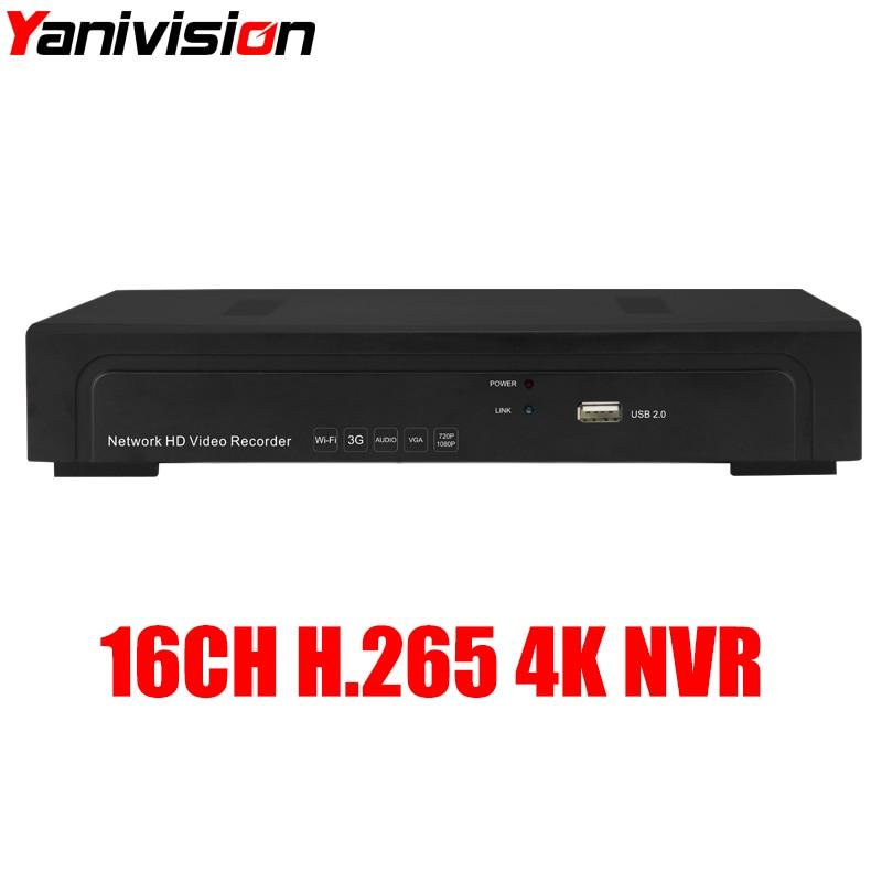 cctv record hdd 1tb sata 7200rpm 64mb Yanivision H.265 CCTV 1SATA HDD NVR 4K Output 5MP IP Security Network Recorder 16CH 4K 5MP 4MP IP Camera Record ONVIF P2P
