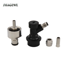 Home brewing Stainless Steel Carbonation Cap Carbonator-Liquid & Gas Ball Lock Disconnect -1/4Barb with Swivel Nut